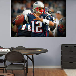 Tom Brady In Your Face Mural Fathead Wall Decal