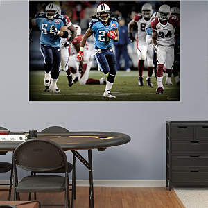 Chris Johnson In Your Face Mural Fathead Wall Decal