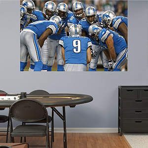 Lions Huddle In Your Face Mural Fathead Wall Decal