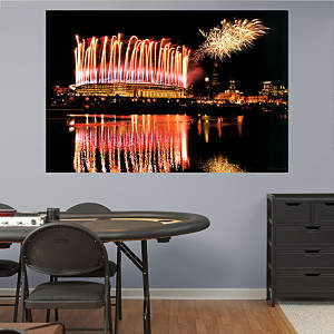 Soldier Field Fireworks Mural Fathead Wall Decal