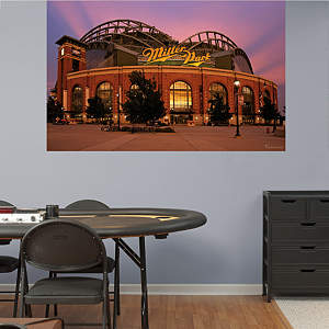 Outside Miller Park Mural Fathead Wall Decal