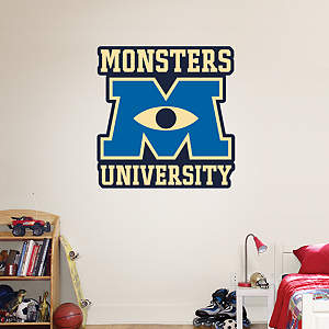 Monsters University Logo Fathead Wall Decal