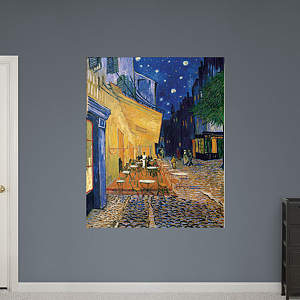 Café Terrace at Night by Vincent van Gogh Fathead Wall Decal
