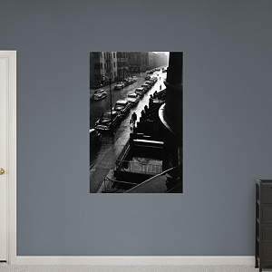 Man in Rain, New York City by Ruth Orkin Fathead Wall Decal