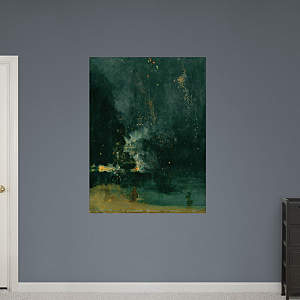 Nocturne in Black and Gold by James Abbott McNeill Whistler Fathead Wall Decal