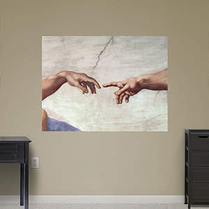 Hands of God and Adam by Michelangelo Fathead Wall Decal