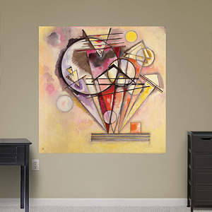 Auf Spitzen-On the Points by Wassily Kandinsky Fathead Wall Decal