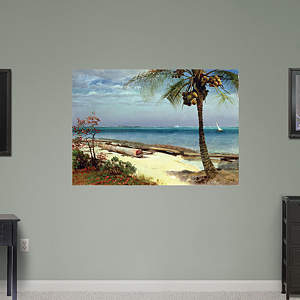 Tropical Coast by Albert Bierstad Fathead Wall Decal