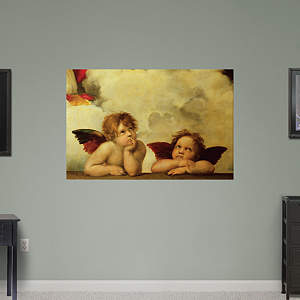 Detail of Sistine Madonna by Raphael Fathead Wall Decal