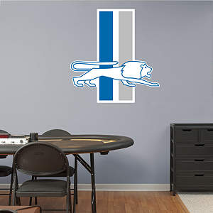 Detroit Lions Classic Logo Fathead Wall Decal