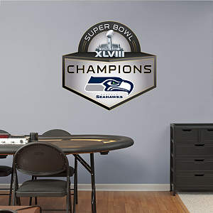 Seattle Seahawks Super Bowl XLVIII Champions Logo Fathead Wall Decal