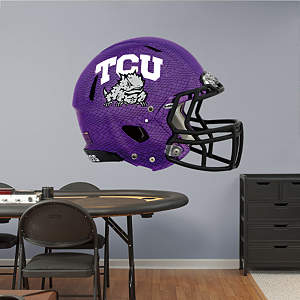 TCU Horned Frogs Chrome Helmet Fathead Wall Decal