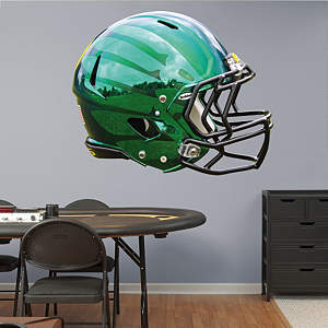Oregon Ducks Liquid Thunder Green Helmet Fathead Wall Decal