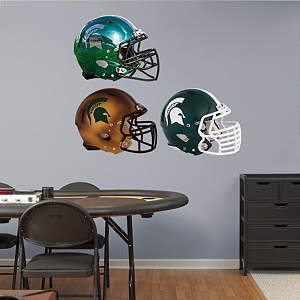 Michigan State Spartans Helmet Collection Fathead Wall Decal