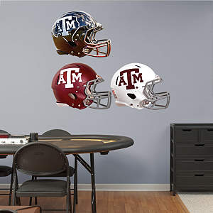 Texas A&M Aggies Helmet Collection Fathead Wall Decal