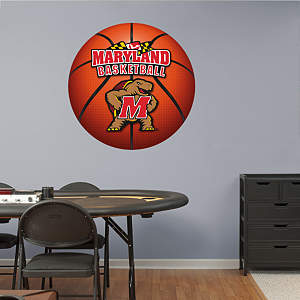 Maryland Terrapins Basketball Logo Fathead Wall Decal
