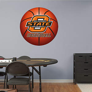 Oklahoma State Cowboys Basketball Logo Fathead Wall Decal