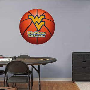 West Virginia Mountaineers Basketball Logo Fathead Wall Decal