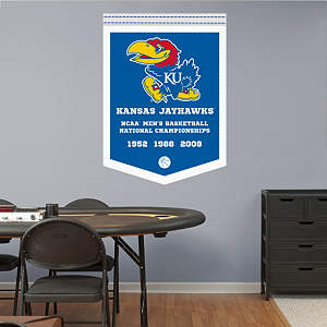 Kansas Jayhawks Men's Basketball National Championships Banner Fathead Wall Decal