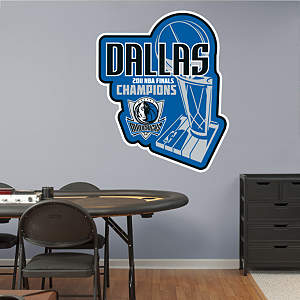 Dallas Mavericks 2011 NBA Champions Logo Fathead Wall Decal
