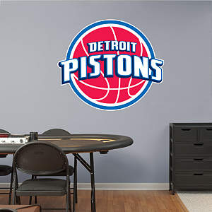 Detroit Pistons Logo Fathead Wall Decal