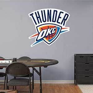 Oklahoma City Thunder Logo Fathead Wall Decal