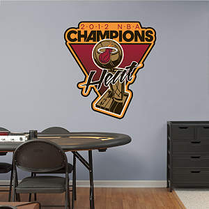 Miami Heat 2012 NBA Champions Logo Fathead Wall Decal