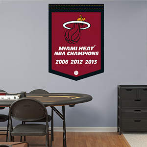 Miami Heat NBA Champions Banner Fathead Wall Decal