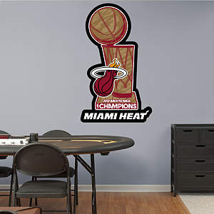 Miami Heat 2013 NBA Champions Logo Fathead Wall Decal