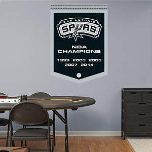 San Antonio Spurs NBA Champions Banner Fathead Wall Decal