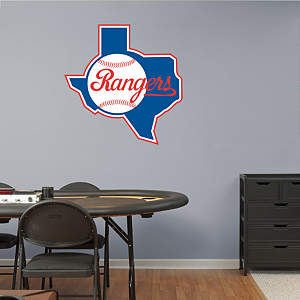 Texas Rangers Classic Logo Fathead Wall Decal