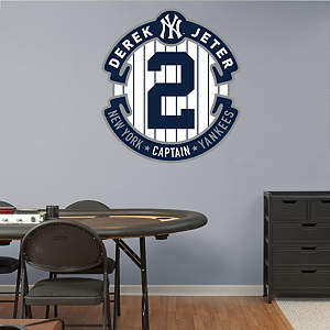Derek Jeter Logo Fathead Wall Decal