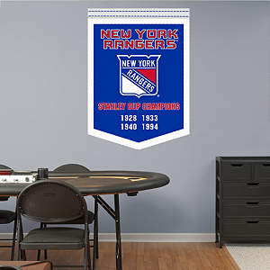 New York Rangers Stanley Cup Champions Banner Fathead Wall Decal