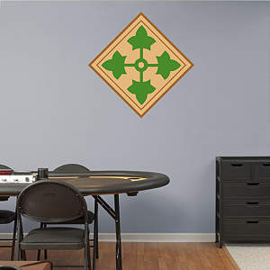 4th Infantry Insignia Fathead Wall Decal