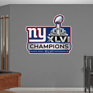New York Giants Super Bowl XLVI Champions Logo Fathead Wall Decal
