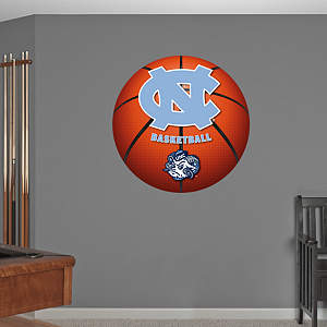 North Carolina Tar Heels Basketball Logo Fathead Wall Decal