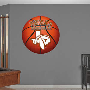 Texas Longhorns Basketball Logo Fathead Wall Decal