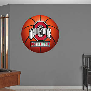 Ohio State Buckeyes Basketball Logo Fathead Wall Decal