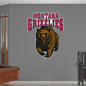 Montana Grizzlies Logo Fathead Wall Decal