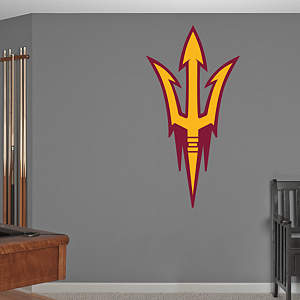 Arizona State Sun Devils Pitchfork Logo Fathead Wall Decal