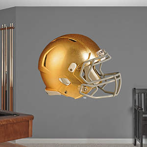 Notre Dame Fighting Irish Gold Helmet Fathead Wall Decal