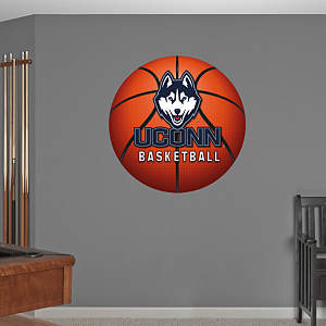 UConn Huskies Basketball Logo Fathead Wall Decal