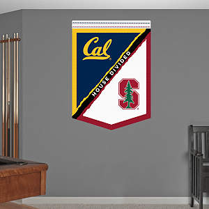 Cal - Stanford House Divided Banner Fathead Wall Decal