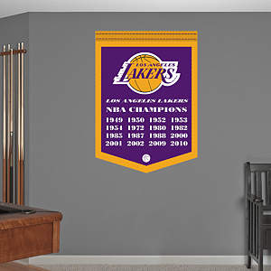 Los Angeles Lakers NBA Champions Banner Fathead Wall Decal
