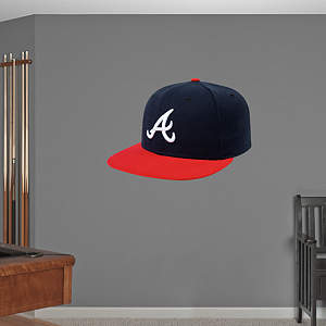 Atlanta Braves Cap Fathead Wall Decal