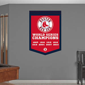 Boston Red Sox World Series Champions Banner Fathead Wall Decal