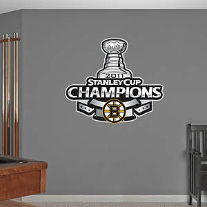 Boston Bruins 2011 Stanley Cup Champions Logo Fathead Wall Decal