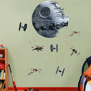 Death Star Battle Fathead Wall Decal