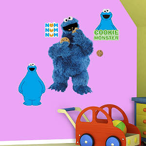 Cookie Monster Collection Fathead Wall Decal