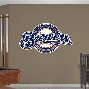 Milwaukee Brewers Logo Fathead Wall Decal